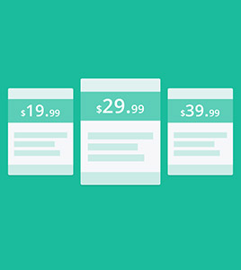 pricing tables for Joomla