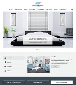 Apartments template for Joomla!